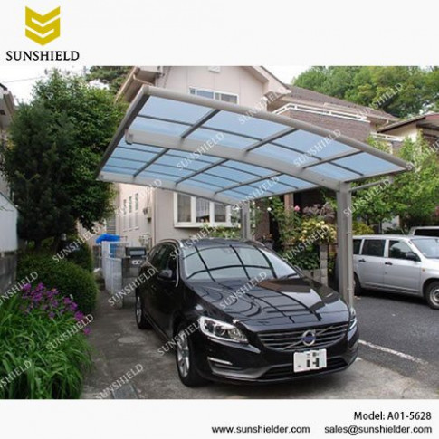 Polycarbonate Carport Arched Roof Car Parking Shed ..