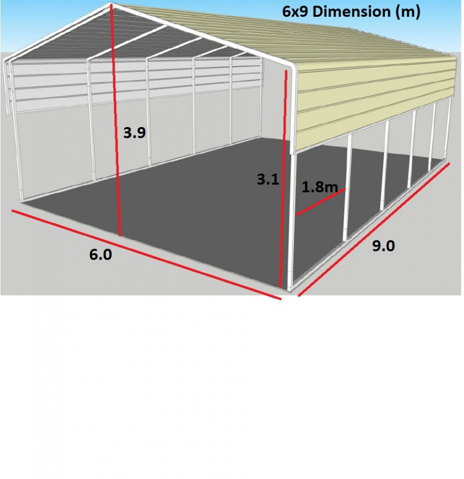 Portable Carport 13x13m Wrapping Roof Suitable For Any Level Floor! Carport Tent Nz