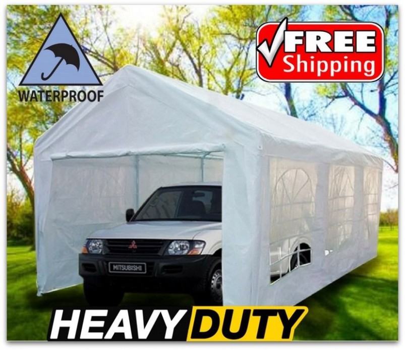 Portable Carport Canopy 10x20 With Metal Frame Kits Garage ..