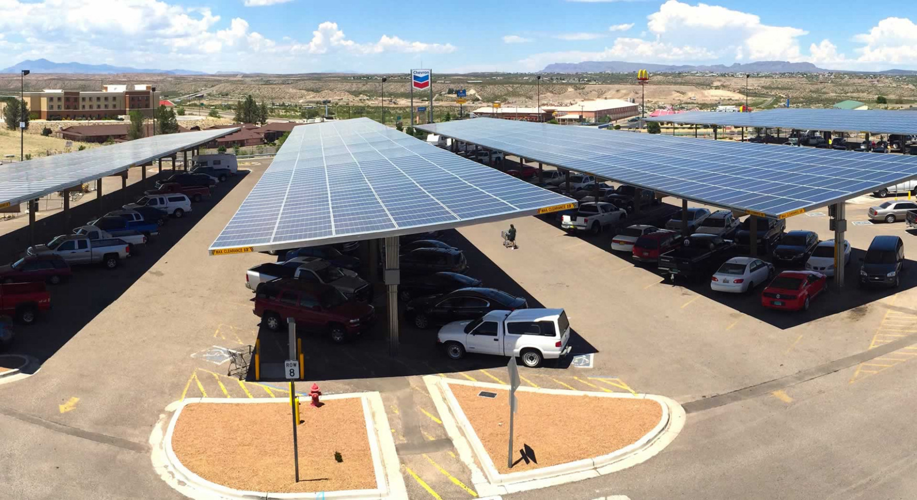 Powers Solar Frame Carport Gallery Solar Carports Parking Lots