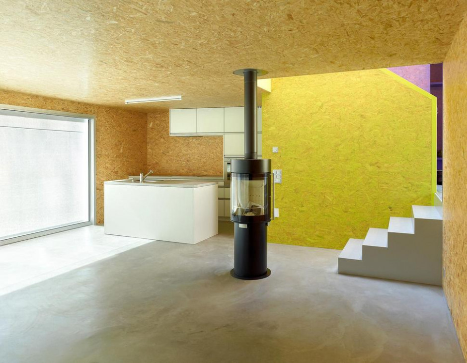 Pre Fabricated House With Painted OSB Panels Carport Decorating Pictures