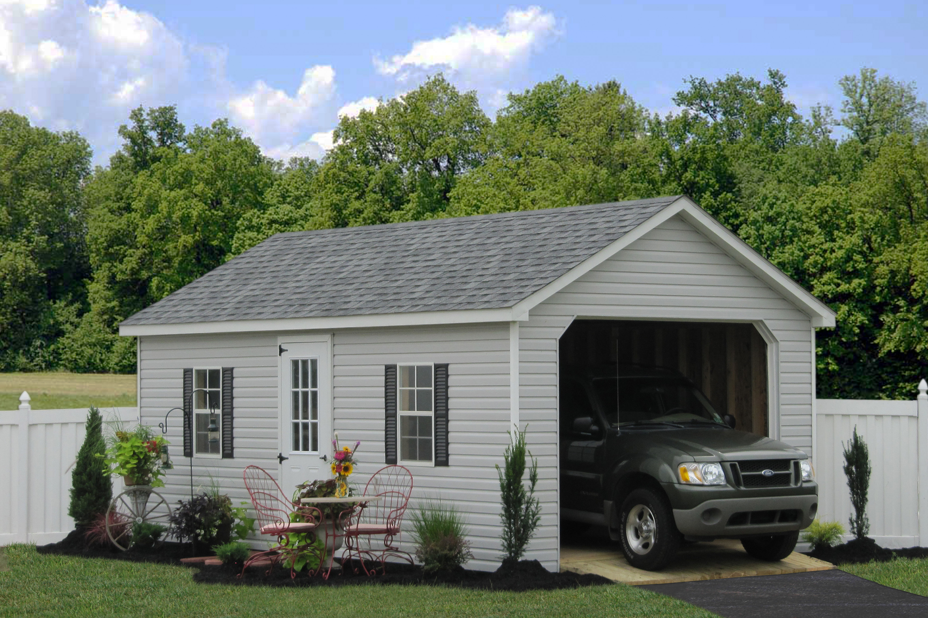 Prefab Garage Packages From Sheds Unlimited In Lancaster Wooden Carport Packages