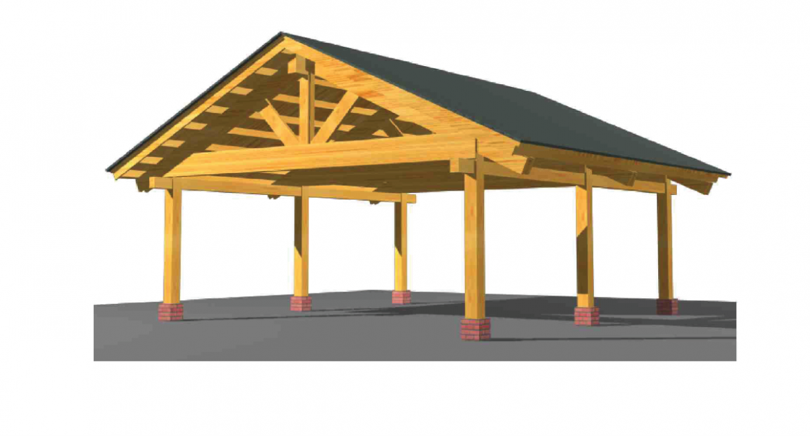 PREFAB HEAVY TIMBER Frame Carport For 9 Two Vehicles Cars Engineered Wood Canopy Wooden Carport Canopy