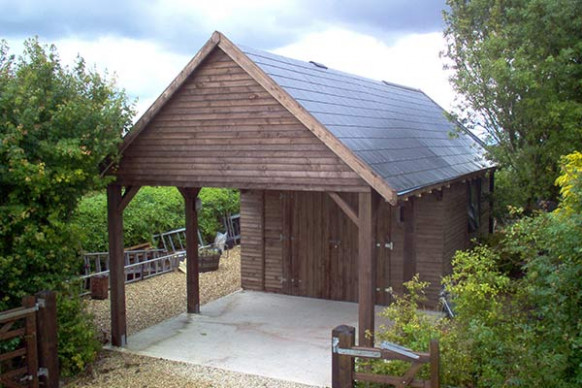 Prefabricated Timber Garage Building Manufacturer In UK 🏠 Wooden Carports With Room Above