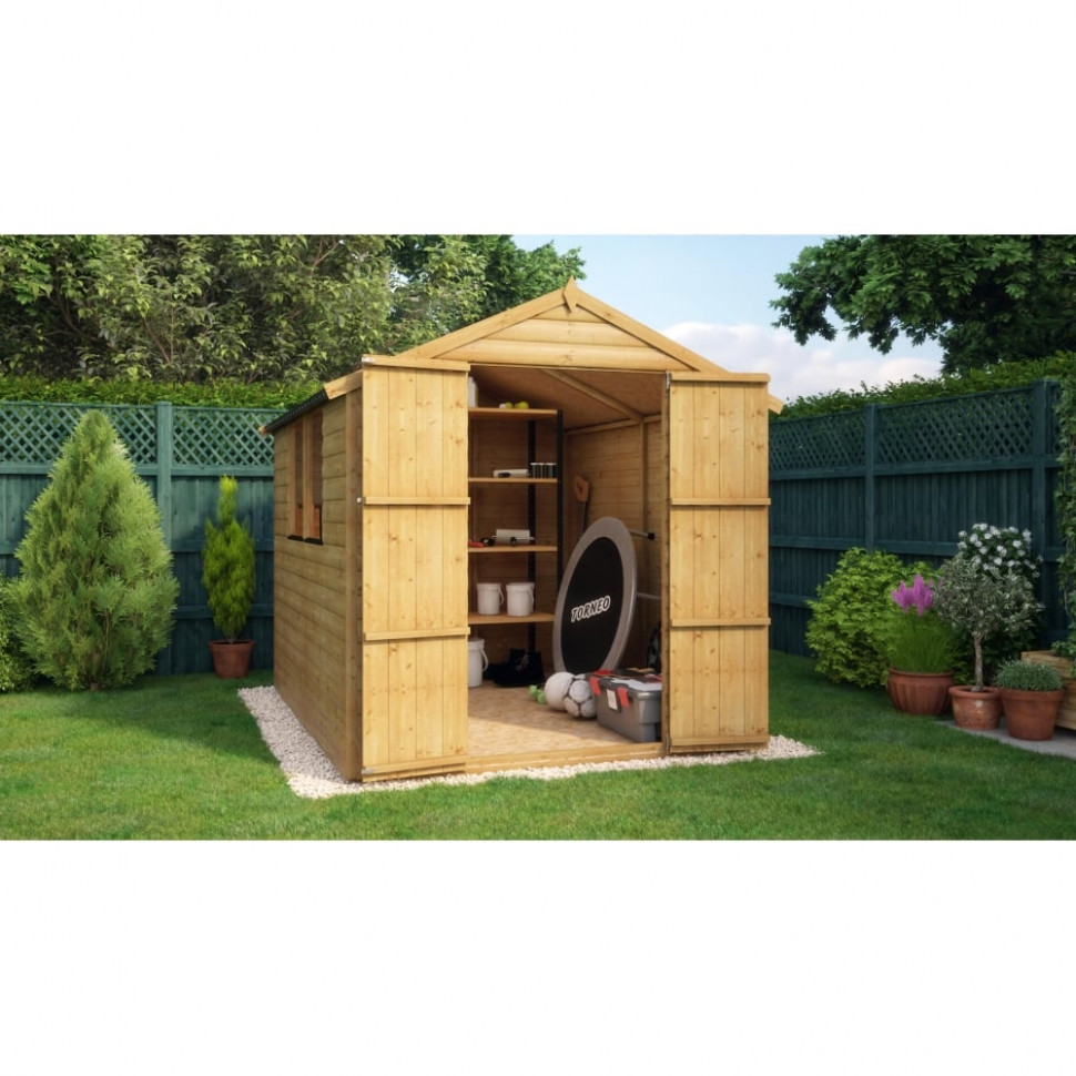 Project Timber Loglap Windowed Garden Shed Wooden Carports Scotland