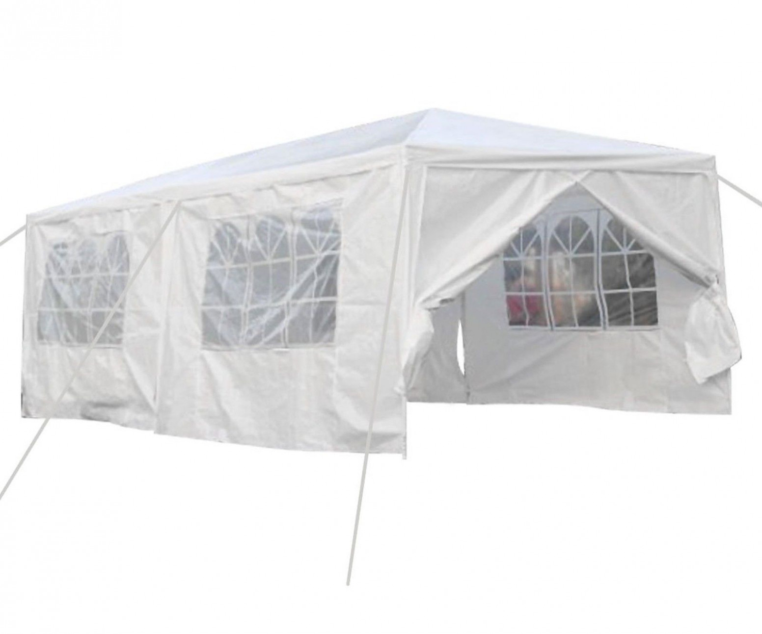 Qisan Canopy Tent Carport 12 X 12 Feet Domain Carport With Sidewalls White(ca..