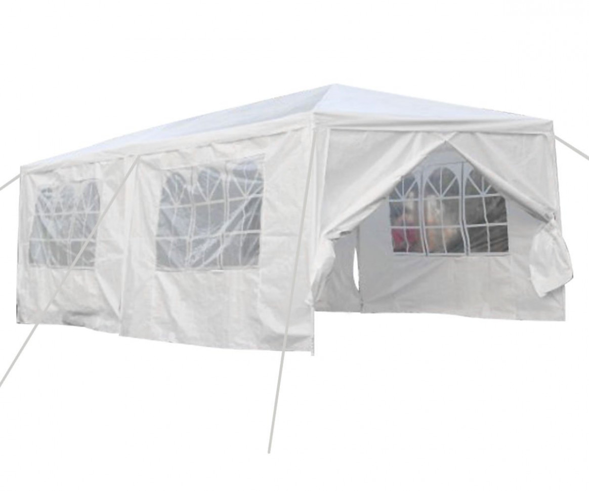 Qisan Canopy Tent Carport 7 X 7 Feet Carport With Sidewalls, White(calm Environment Only) Carport Tent Installation