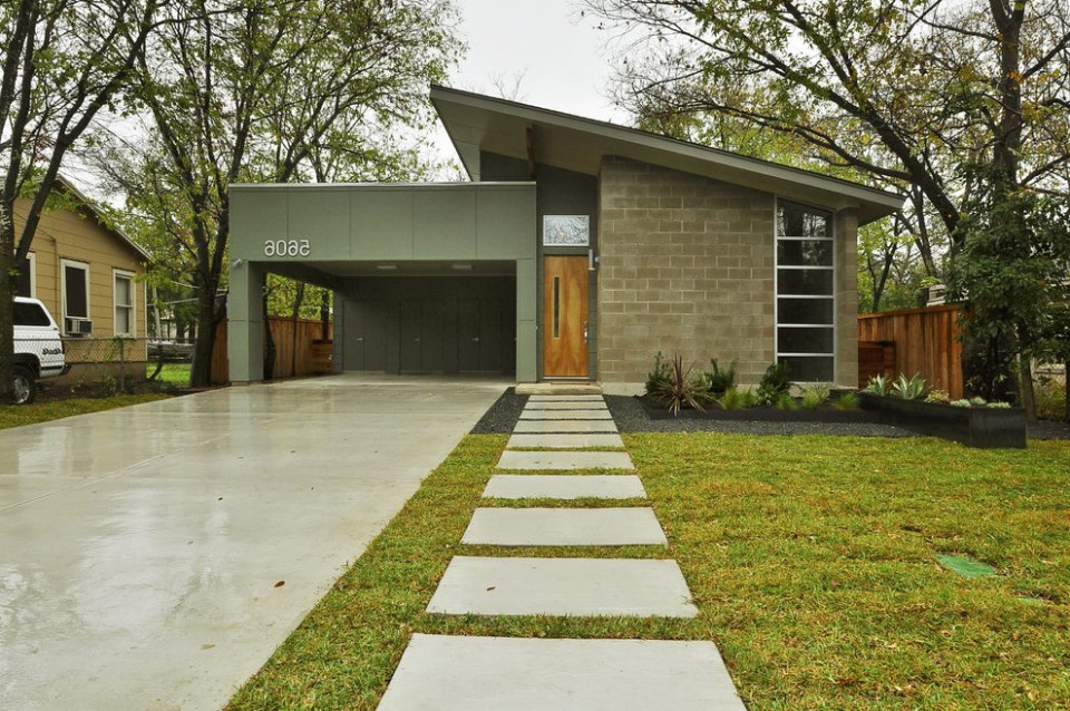 Ranch Roof Line Exterior Midcentury With Glass Wall Metal ..