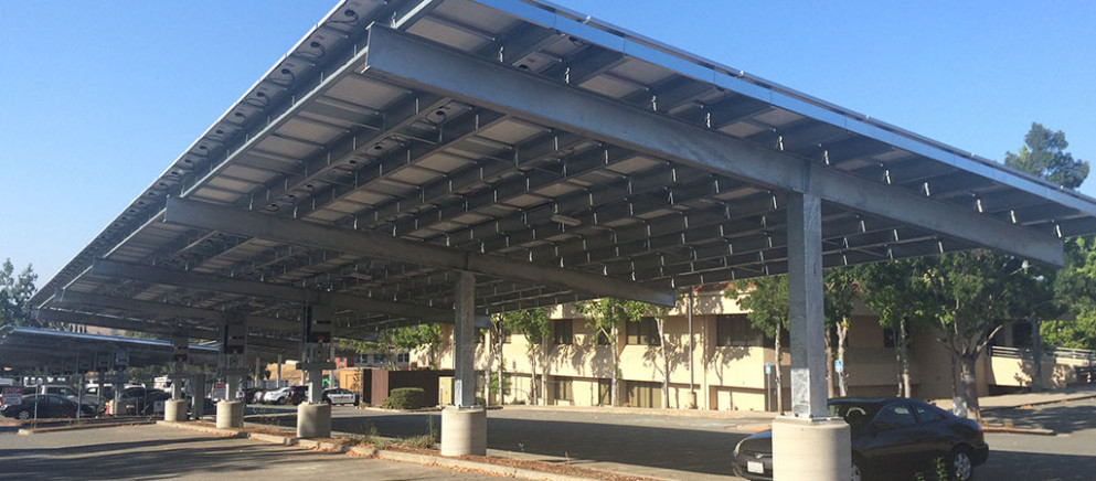 RBI Solar Carport Structures | Steel Frame Solar Canopies Carport Tent Buildings