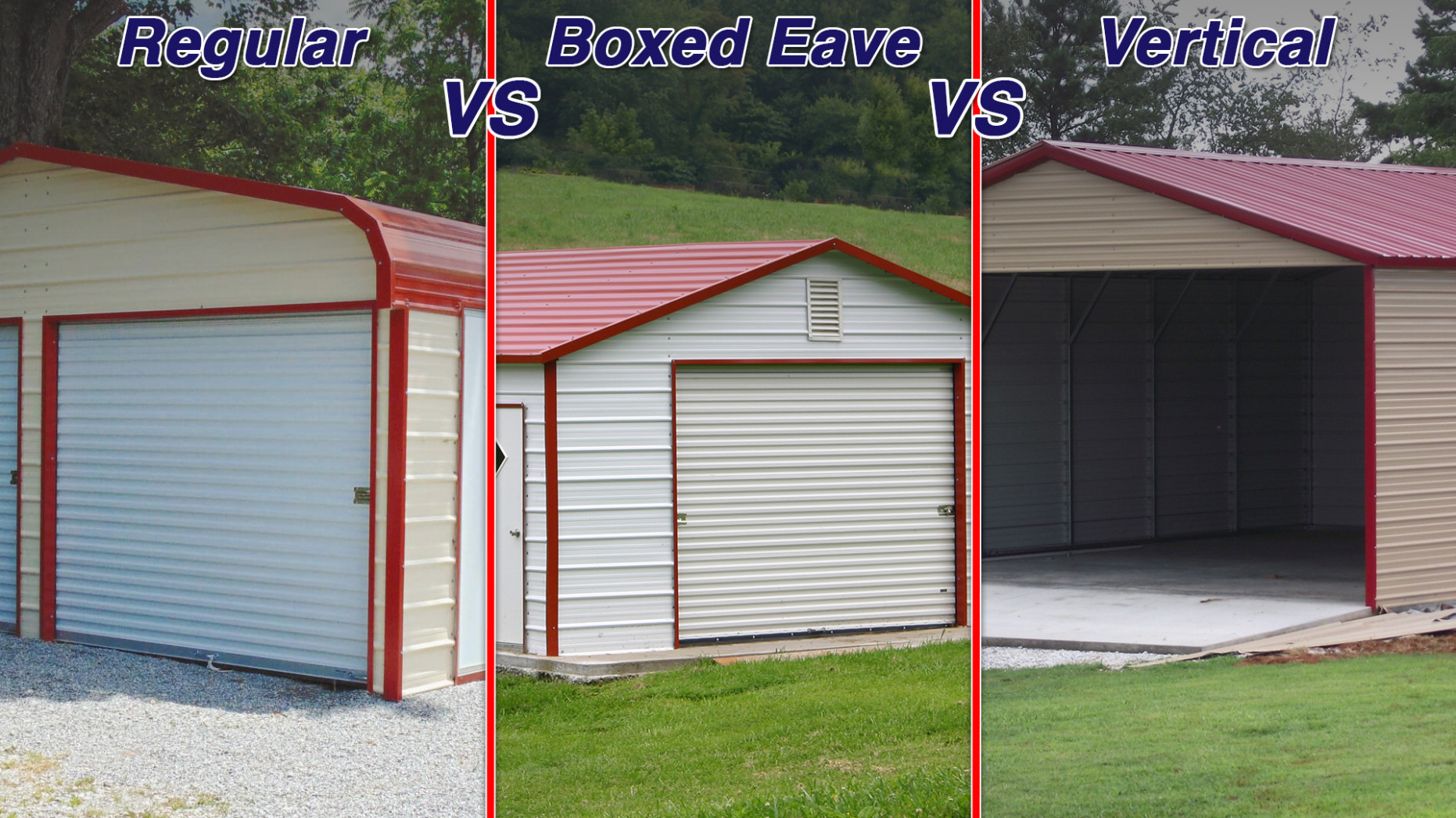 Regular, Vertical & Boxed Eave: Your Guide To Carport Metal ..