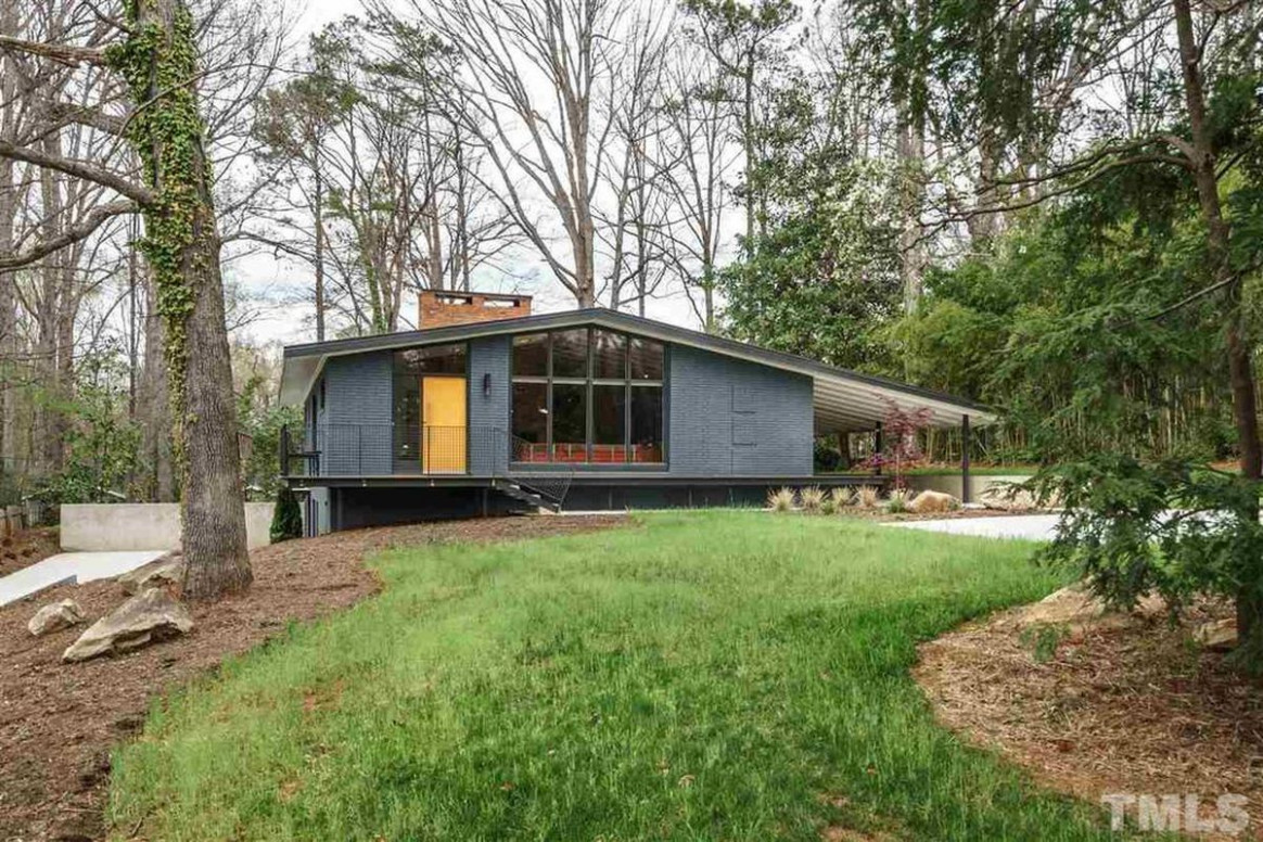 Renovated Midcentury In North Carolina Asks $13K Curbed Mid Century Modern House With Carport