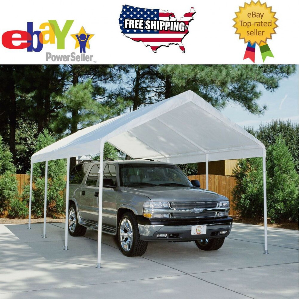 Replacement Canopy White 10' X 20', Carport Cover Tent ..