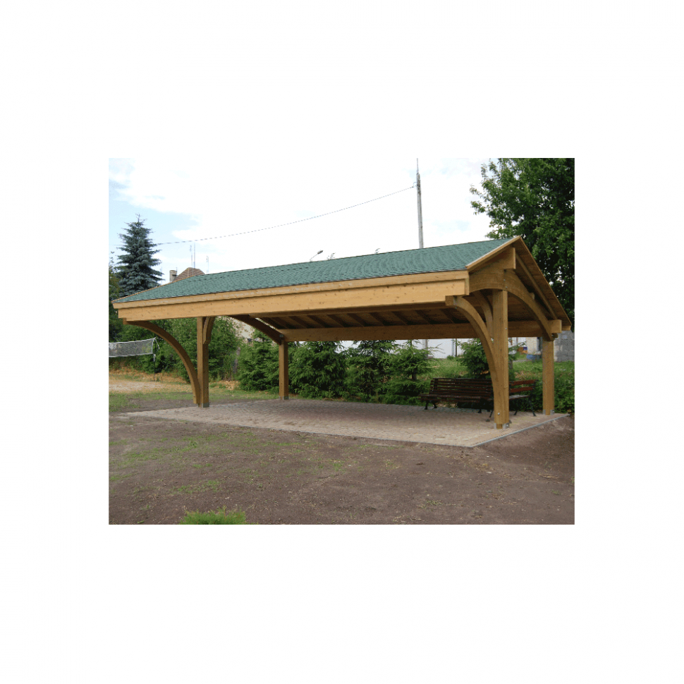 Revelatio II Double Carport Wooden Carports With Storage