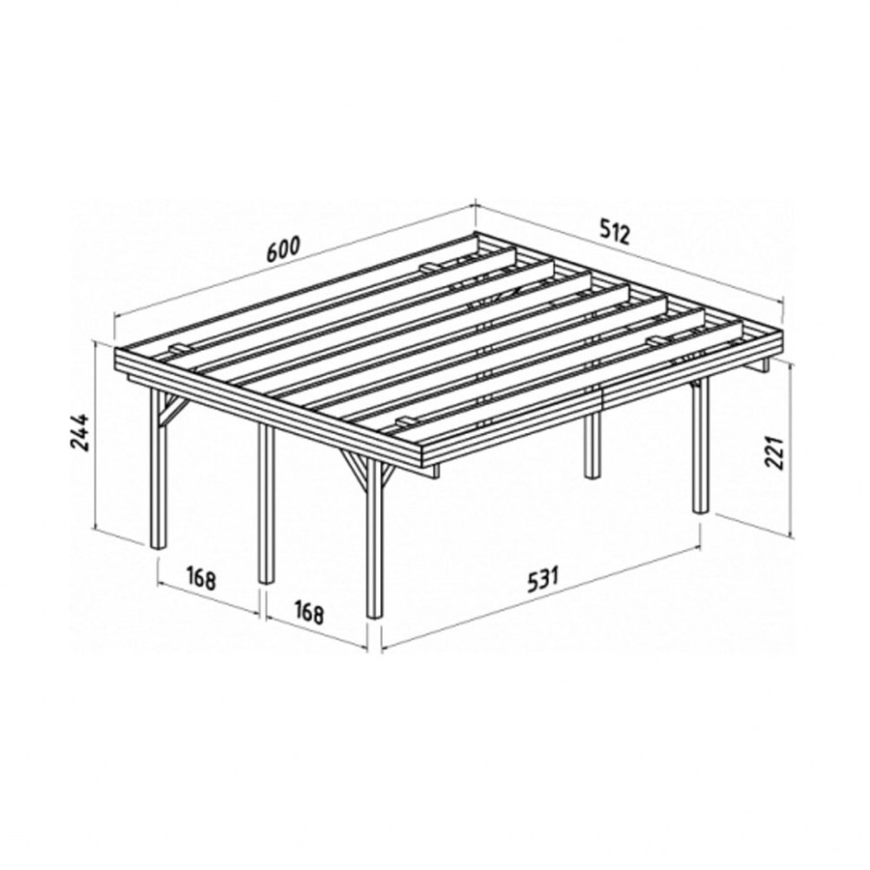 Richard 9 Double Carport Carport Roof Design Uk