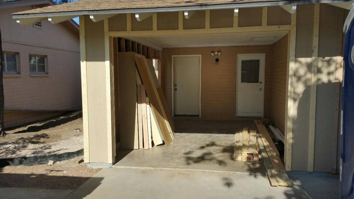 Rosie On The House: Changing Your Carport Into A Garage ..