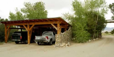 rustic car ports | ... , you can see the carport to your ...