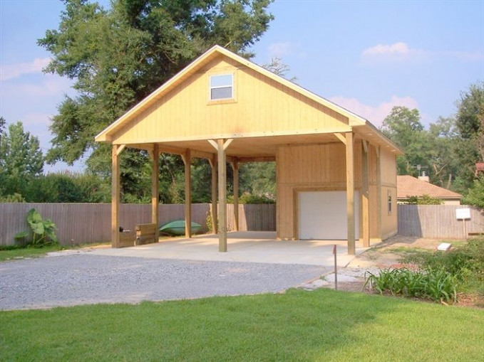 Rv Building Designs | RV Carport & One Car Garage :: Gator ..