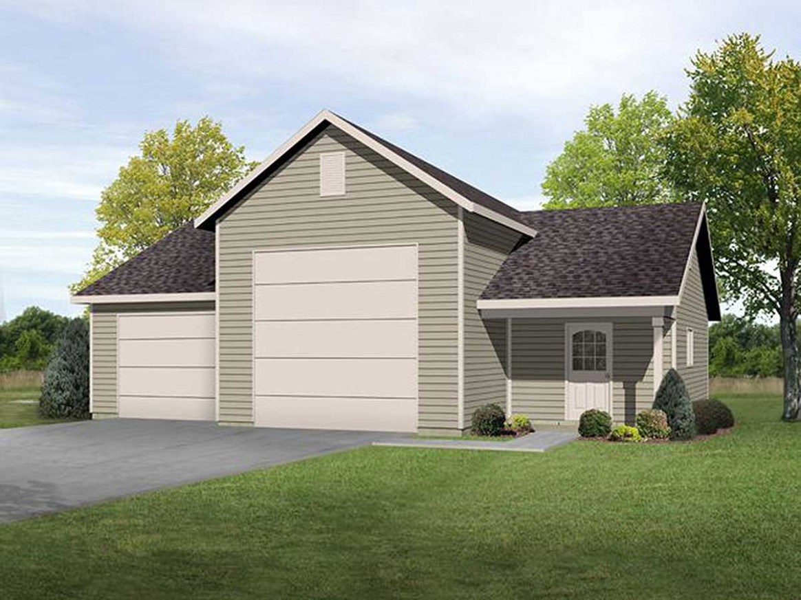 RV Garage With Shop 22099SL | Architectural Designs ..