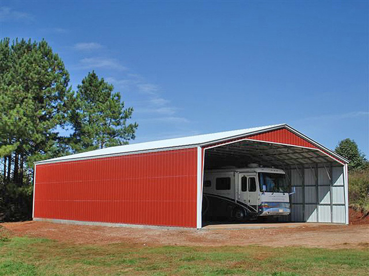 RV Storage Buildings, Metal RV Shelters Eversafe Buildings Metal Carport Garage Buildings