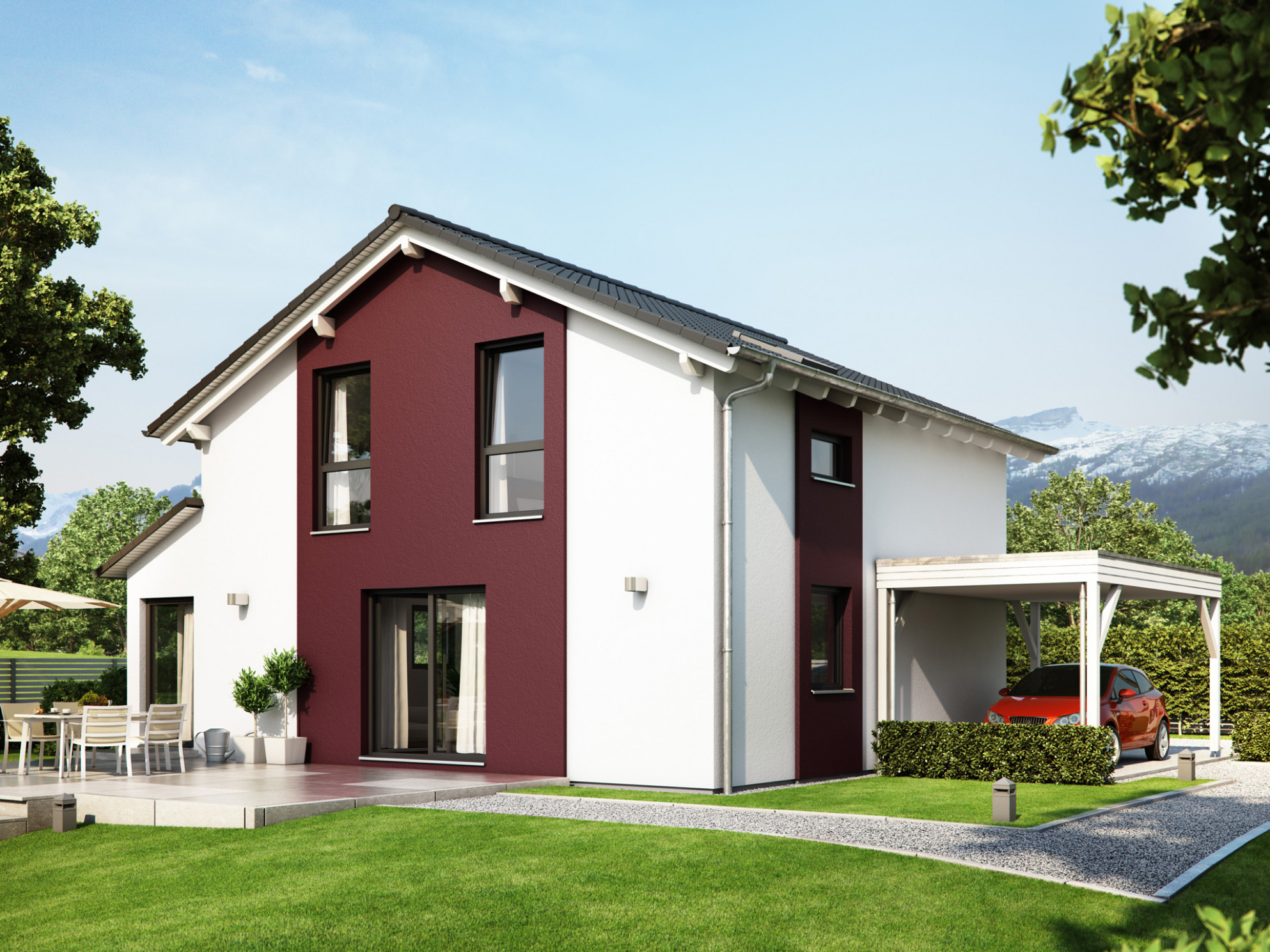 Saddleback SUNSHINE 10 V10 Living Haus | Direct Construction Carports With Pitched Roofs