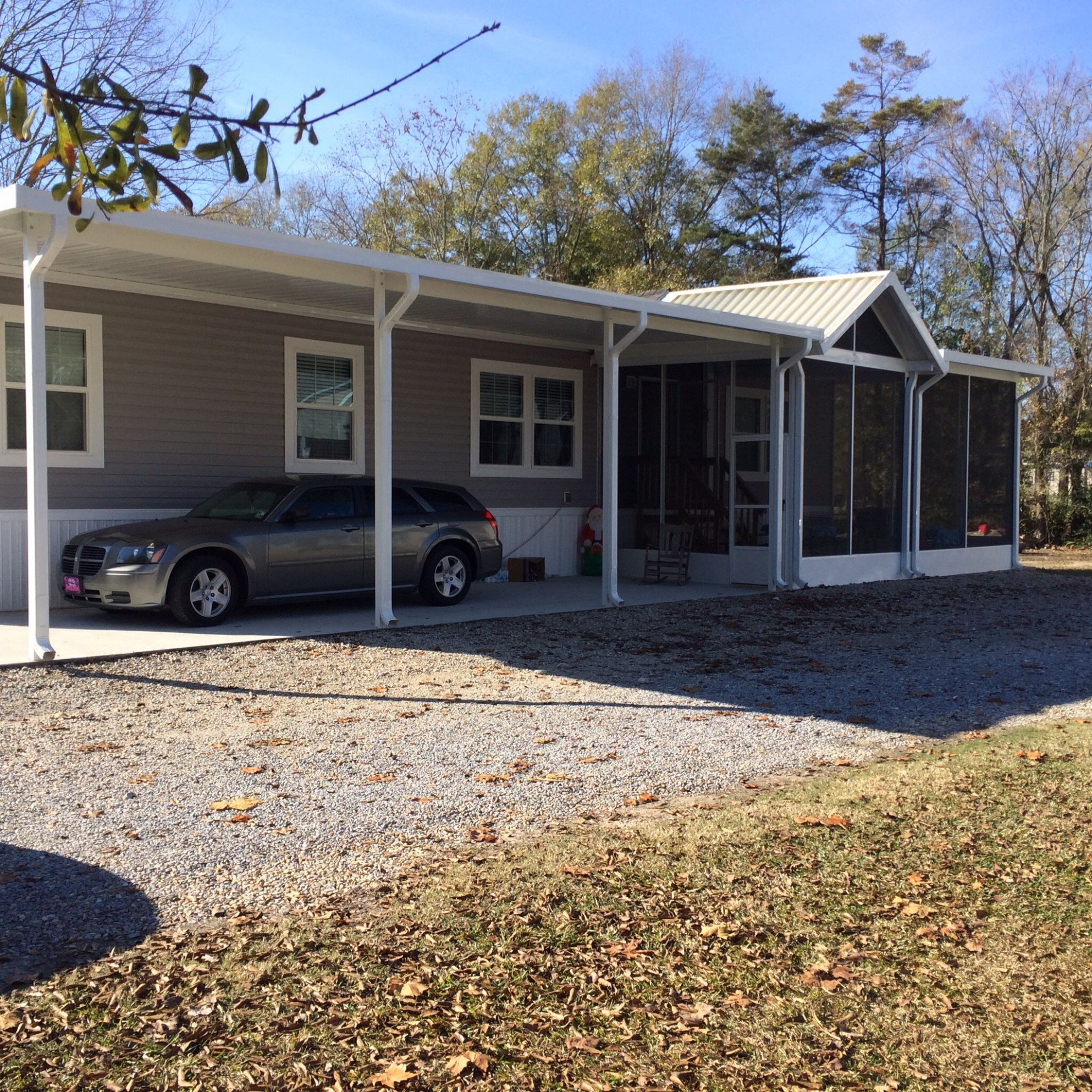 Screened Porch / Room With Carport Attached   Screen Rooms ..