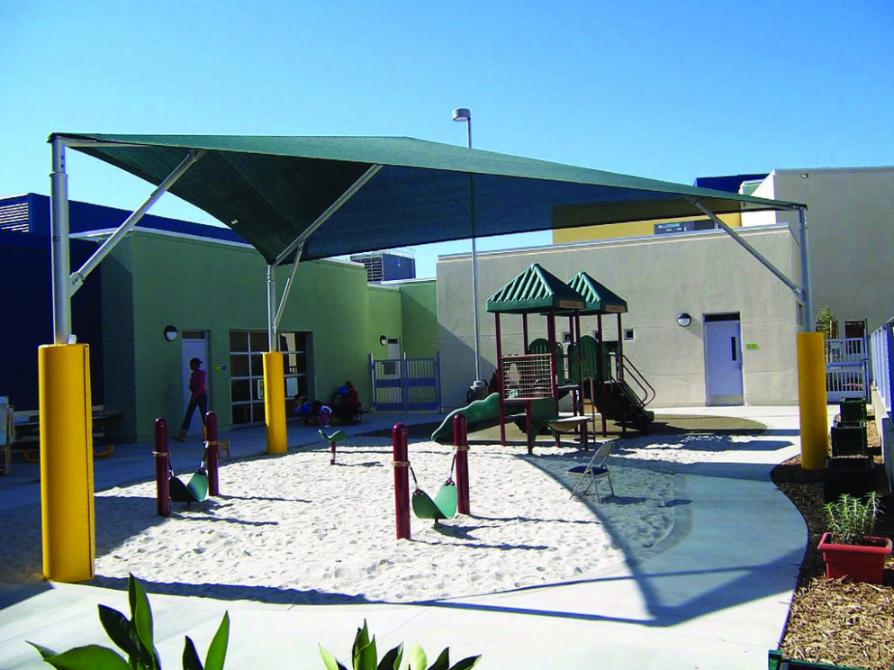 Shade Structures: LACC CDC Carport Shade Canopy