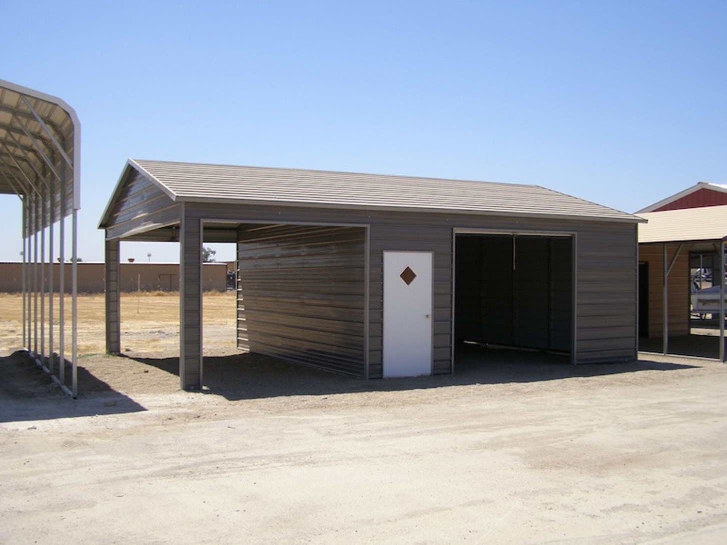 Shed Workshop Combo Carport Garage In 13 | Shed, Metal ..