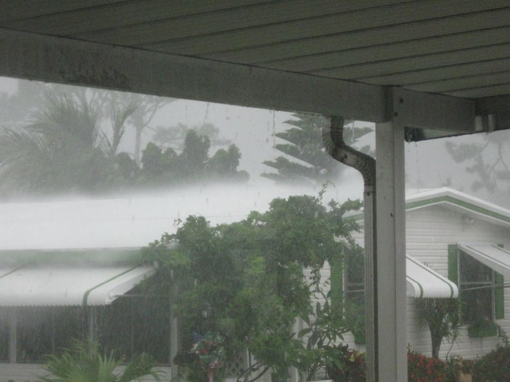Sheets Of Rain Blowing On Roof Carport Roof Sheets