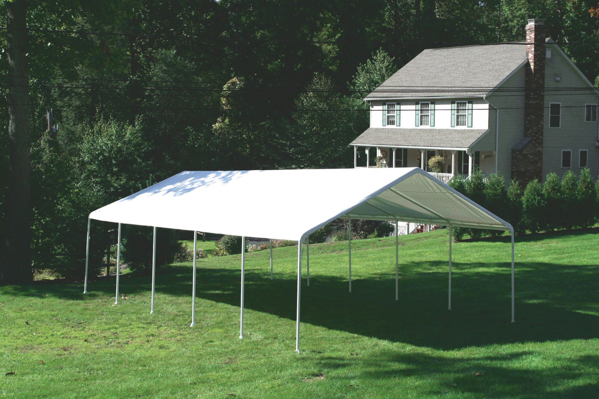Shelter Logic Multiple Car Carport And Event Canopy 18 X ..
