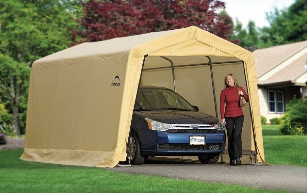 ShelterLogic 10x15x8 Storage Auto Shelter Portable Garage ..