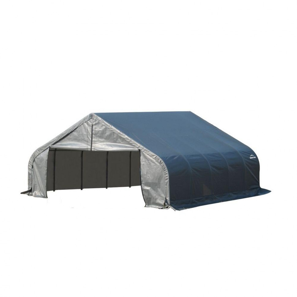 ShelterLogic 18 ft. x 20 ft. x 10 ft. Grey Steel and ...