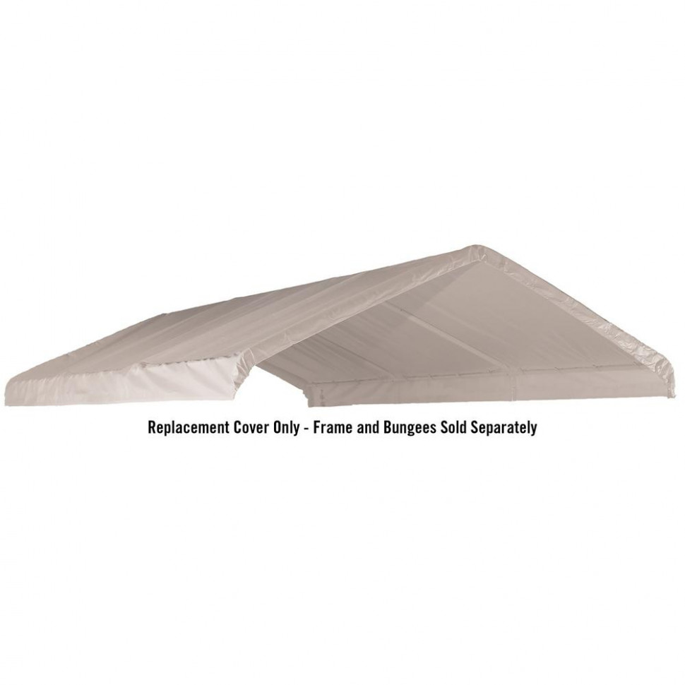 ShelterLogic 7 Ft. W X 7 Ft. H Canopy Replacement Cover In White (Fits 7 In