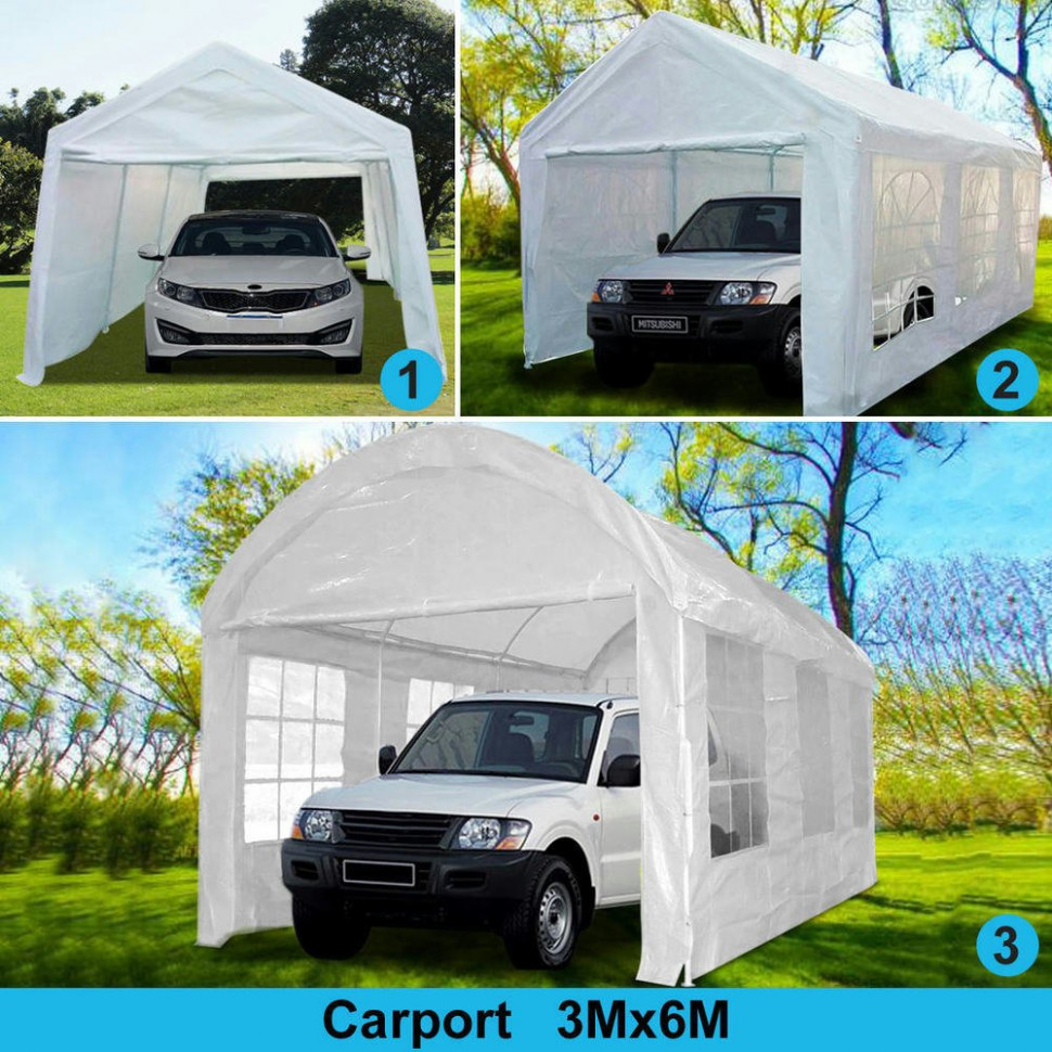 ShelterLogic 8 X 8 Ft Deluxe All Purpose Canopy Carport ..