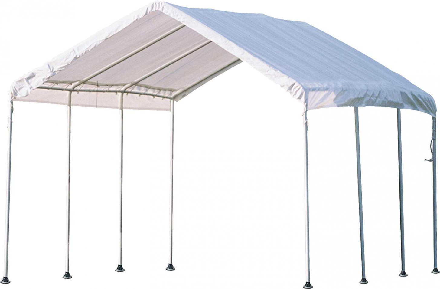ShelterLogic 9′ X 9′ MaxAP Canopy Series Compact Outdoor Easy To Assemble Steel Metal Frame Canopy With 9+ UPF Sun Protection And Waterproof Cover Shelterlogic Max Ap Carport Canopy White