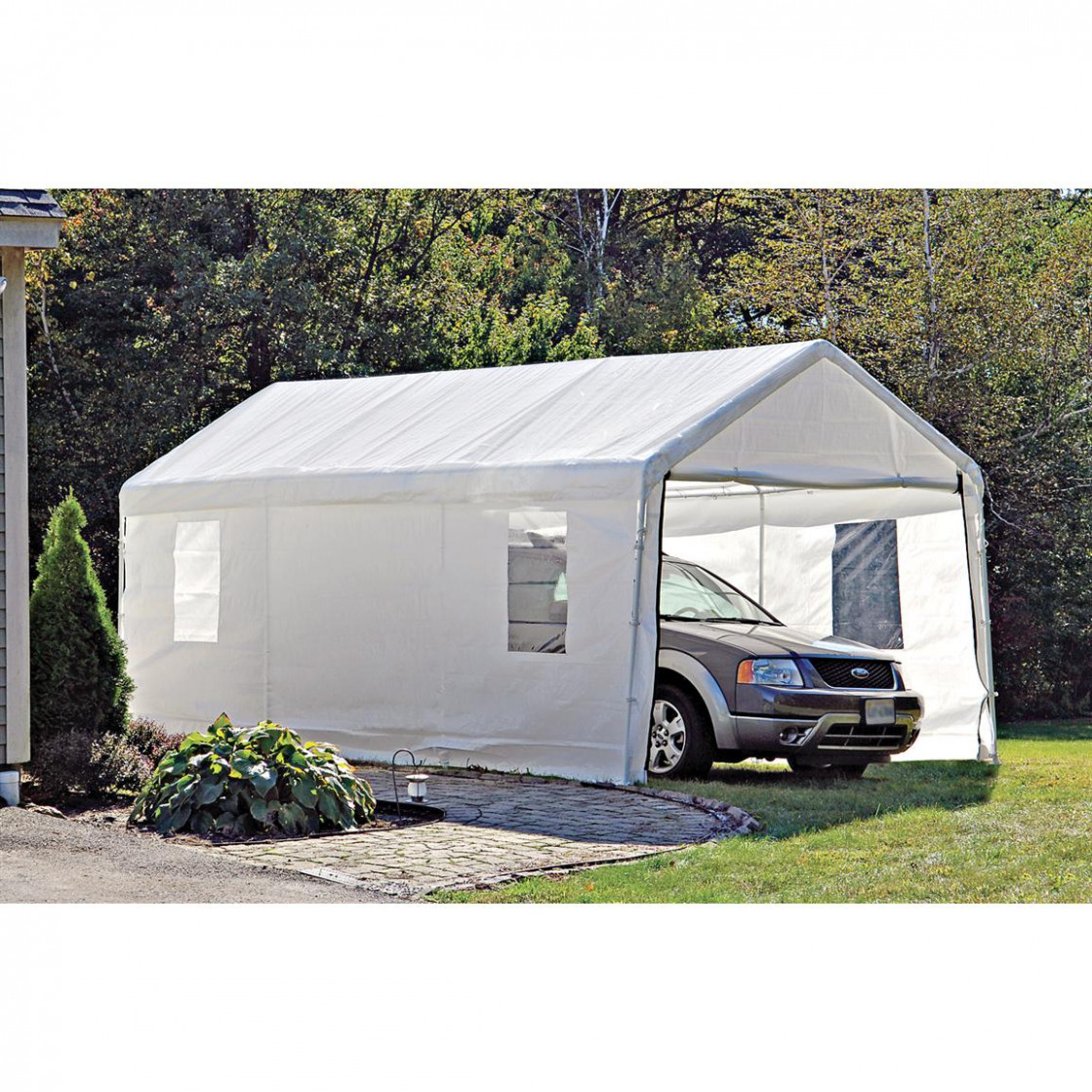 ShelterLogic Portable Garage Canopy Carport, 9' X 9 ..