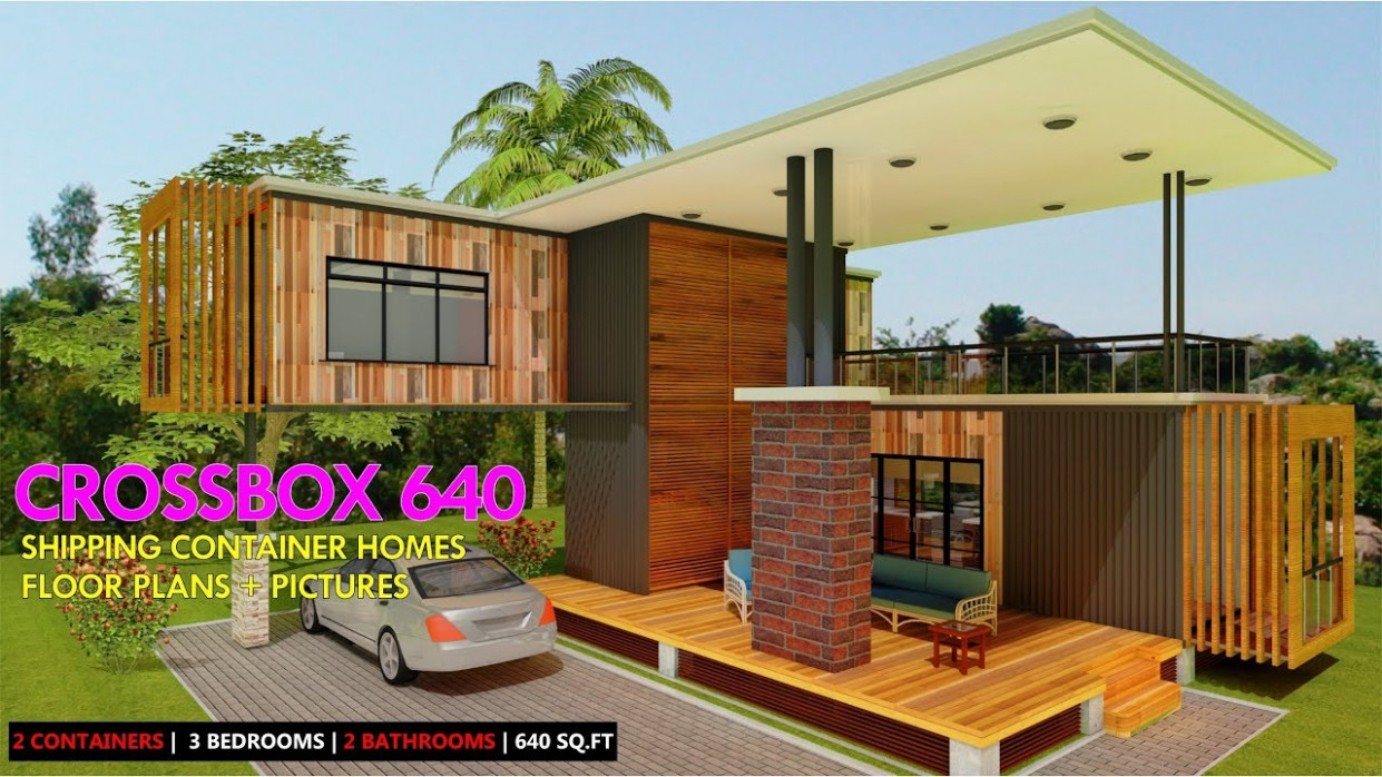Shipping Container HOMES PLANS And MODULAR PREFAB Design Ideas | CROSSBOX 12 Shipping Container Carport Ideas