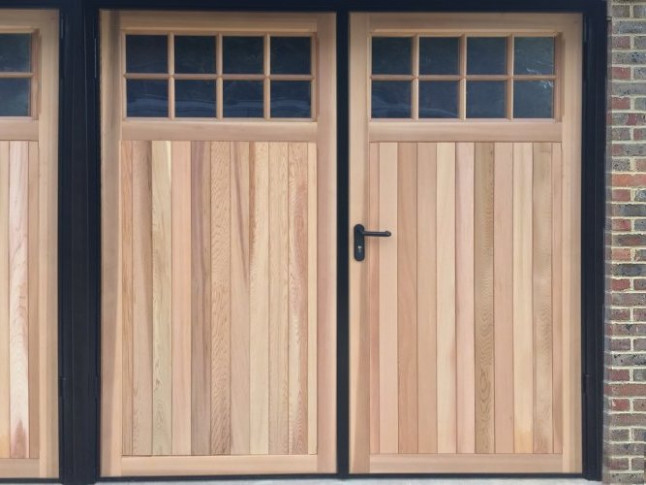 Side Hinged Garage Doors | Sussex, Brighton & Worthing Wooden Carport Sussex