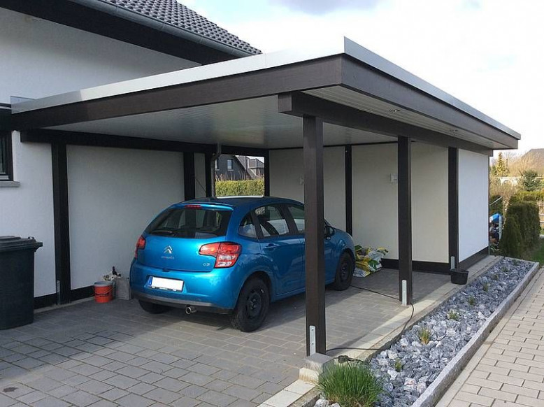Simple Carport That Could Work. Also Loving The Rocks ..