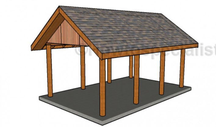 Single Carport Plans | HowToSpecialist How To Build ..