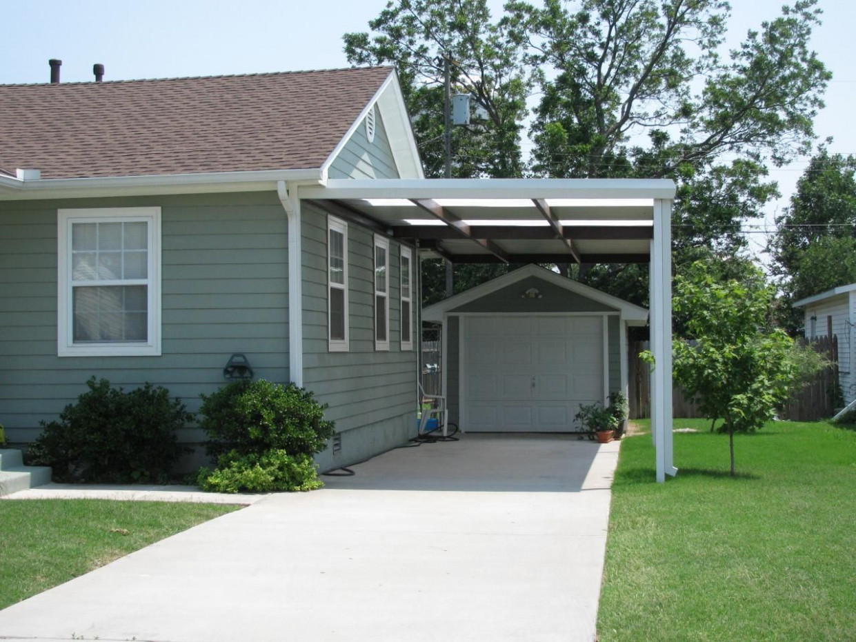 Single Carport With Skylights Midwest City | C A R P O R T S ..