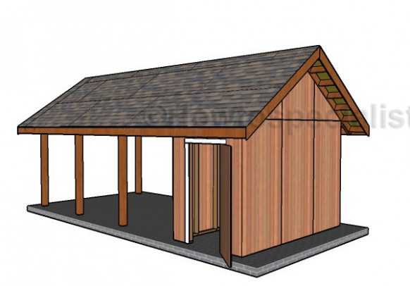 Single Carport With Storage Roof Plans   HowToSpecialist ..