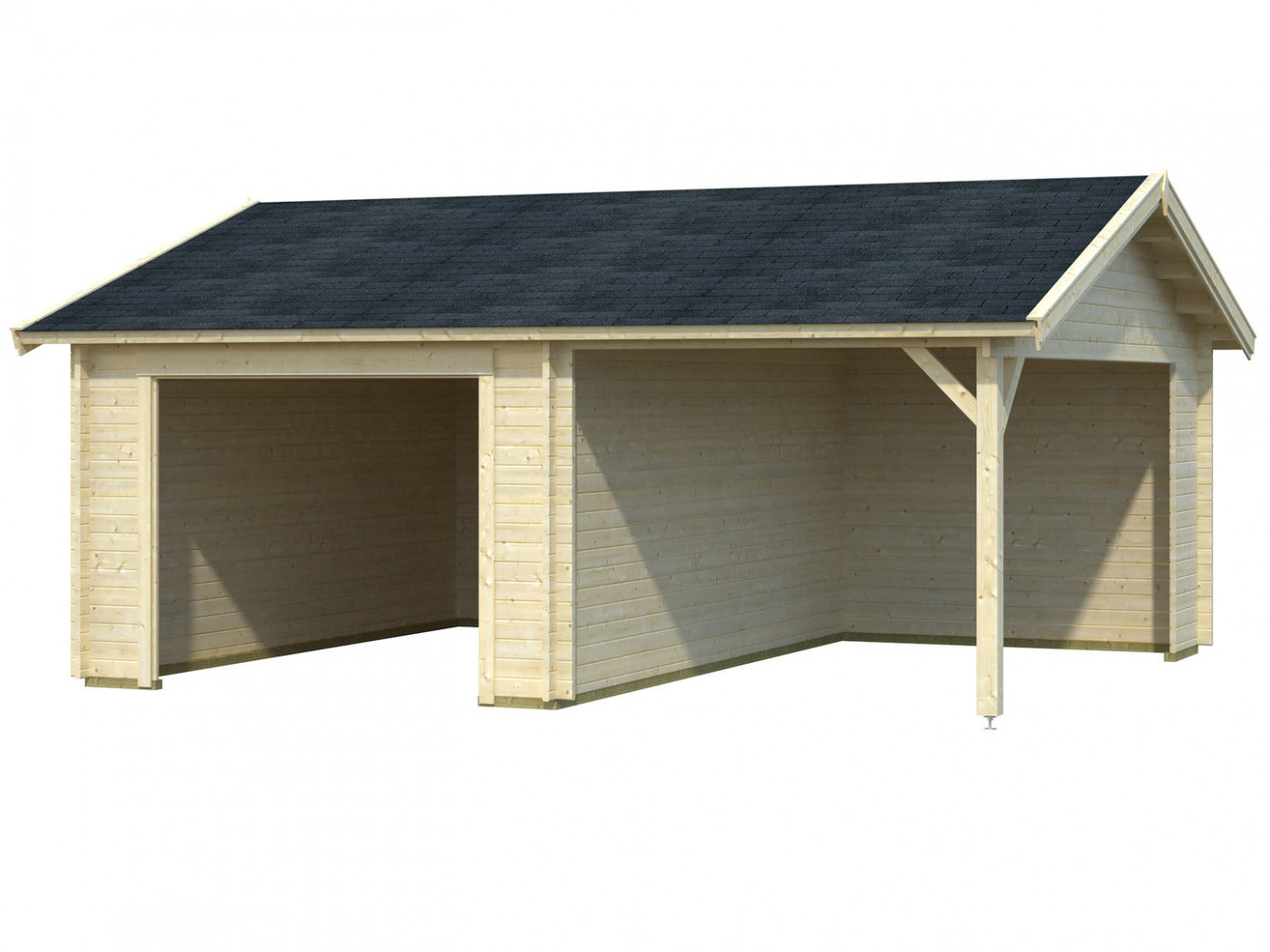 Single Garage With Carport Without Gate Garden House ..