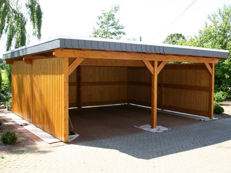 Slant Roof With Enclosed Sides | Carport | Pinterest ...