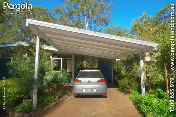 Slanted Attached Roof Carports | ALUMINIUM FRAME CARPORTS ..