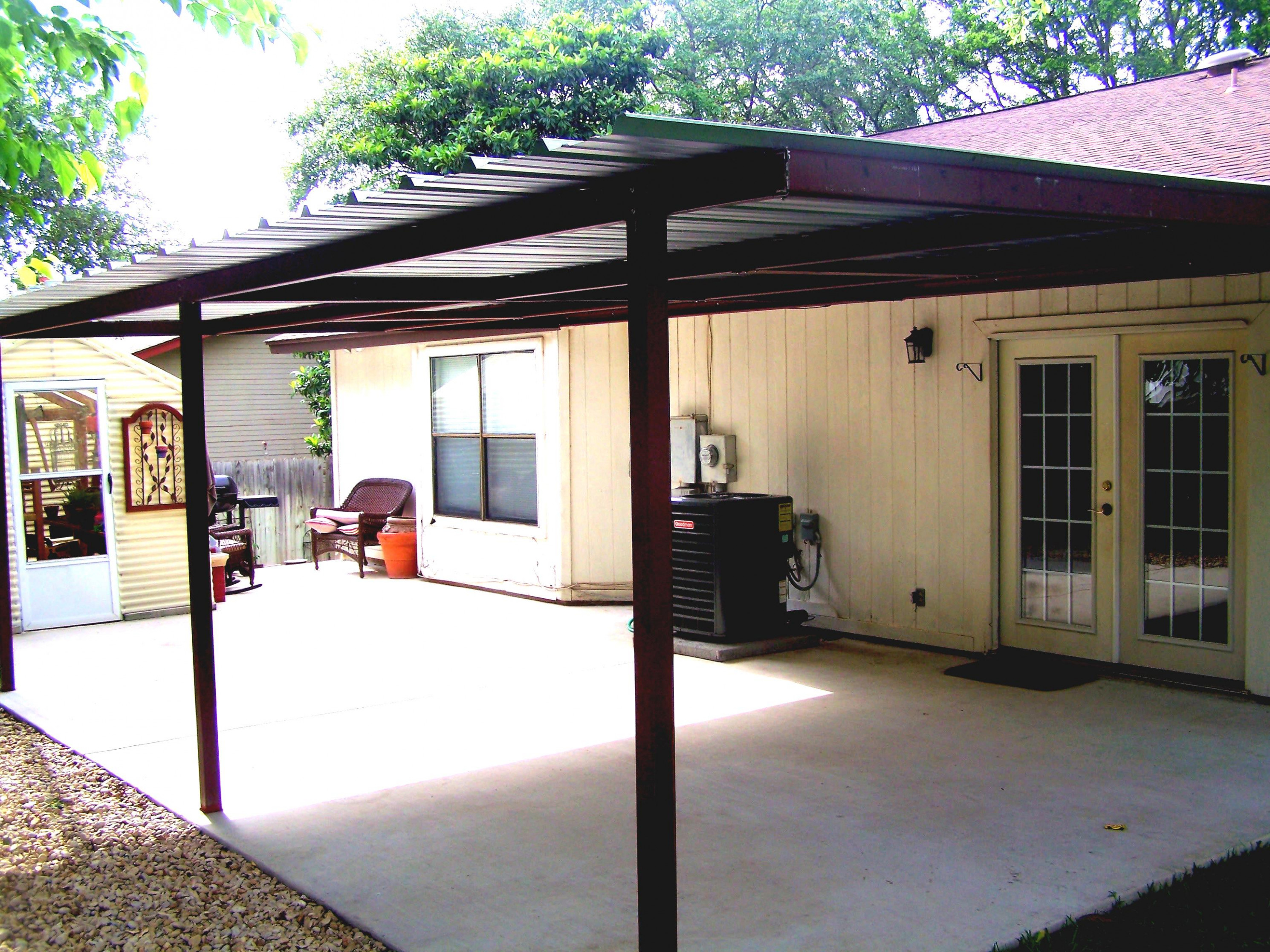 Sloped Carport Lean To Building Kits Barn Prefab First ...