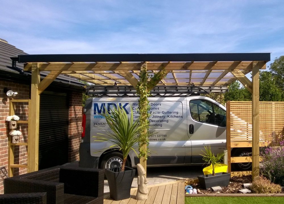 Sloped Roof Carport & This Double Carport Measures X And ..