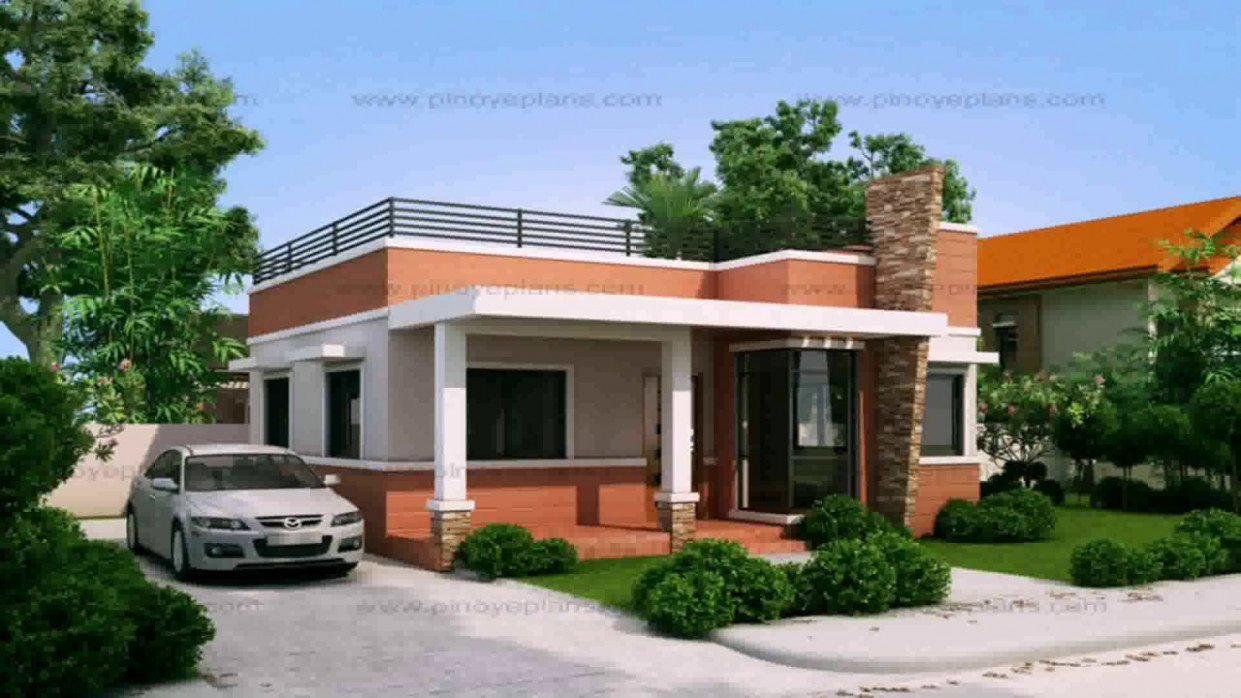 Small Bungalow House Design With Floor Plan YouTube Carport Minimalist Youtube
