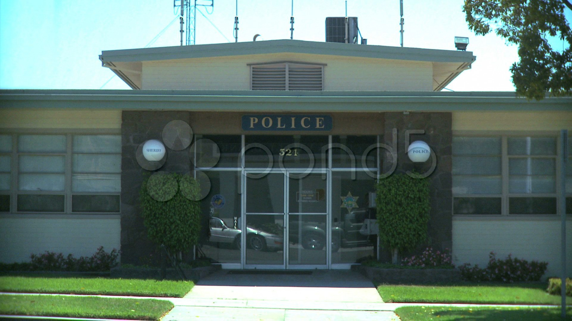 Small Town Police Station Stock Footage,#Police#Town#Small ..