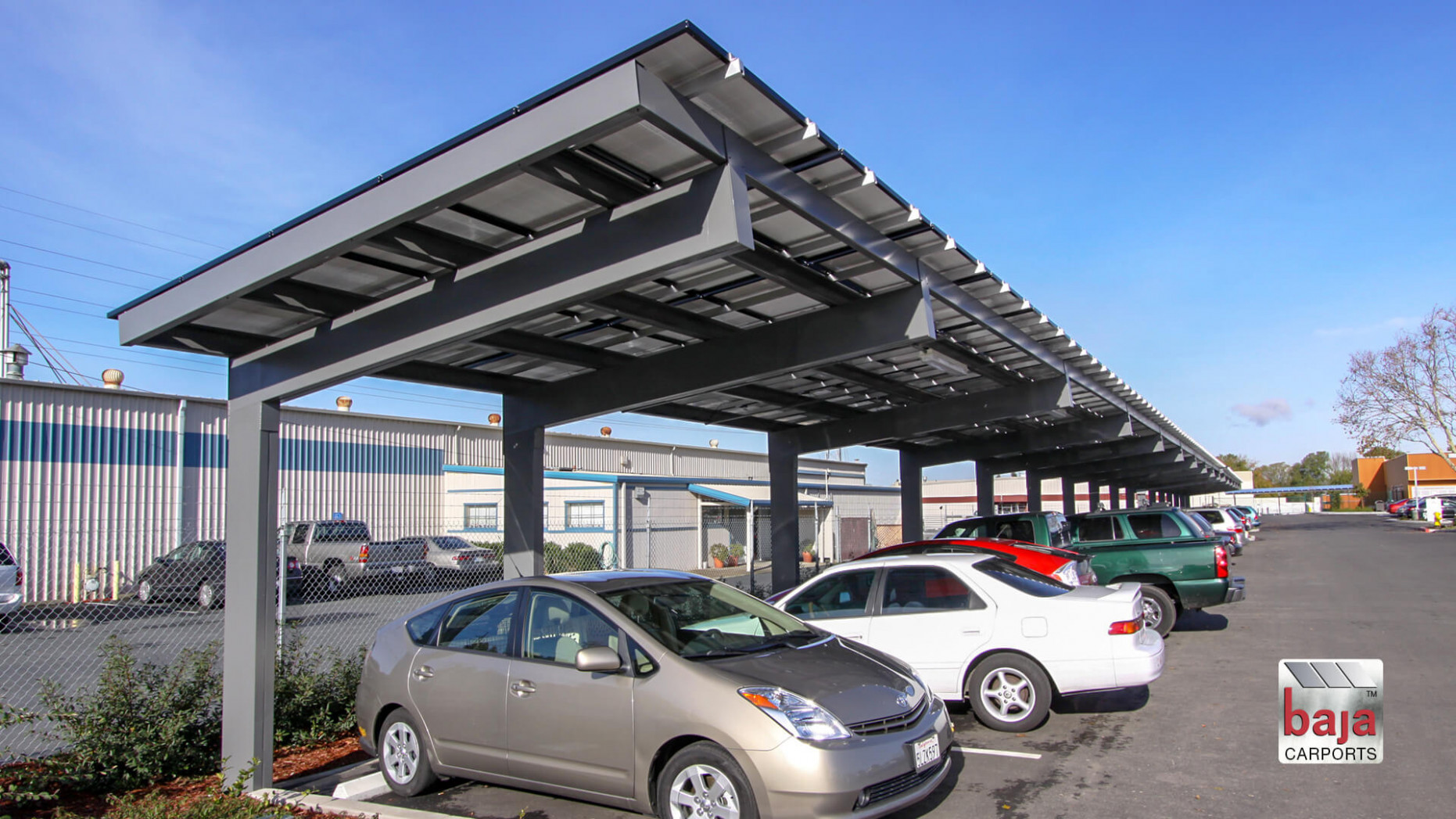 Solar Carports | Commercial Solar Car Ports | Baja Carports Carport Covered Parking