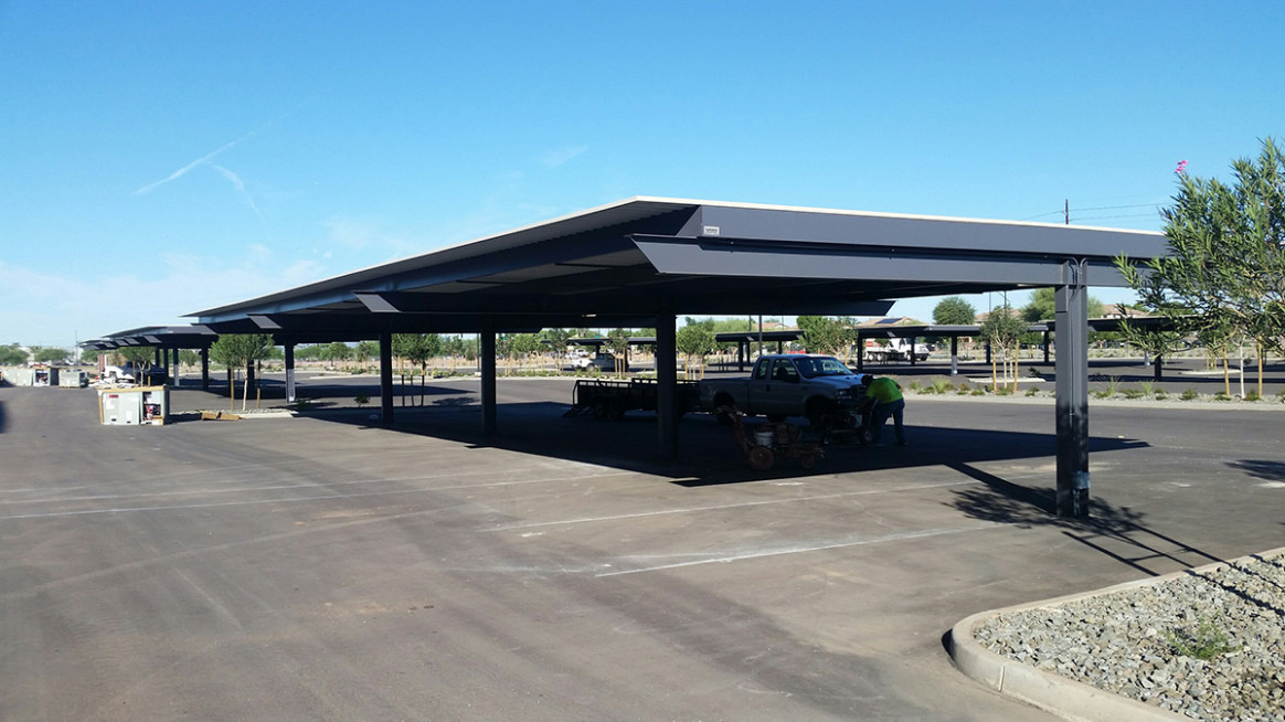 Solar Commercial & Parking Lot Carport Construction Phoenix Parking Lot Carport